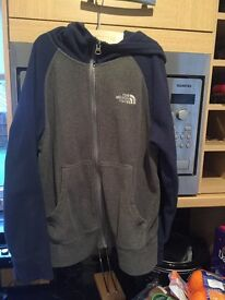 North Face Hooded Fleece aged 10/12