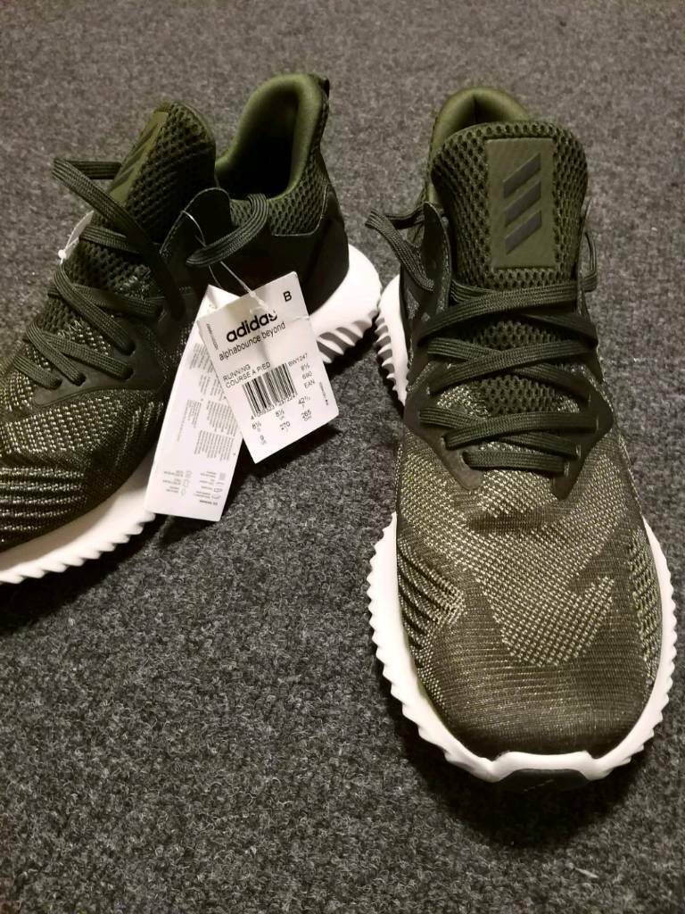 abe1b8d8de619 Brand new Adidas Alpha Bounce Green Trainers
