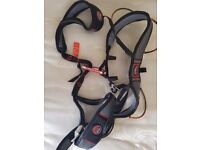 Wild country elite ultralite climbing harness, atc black diamond belay device and chalk bag
