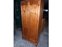 2 x Pine Double Wardrobes £90 each an deliver