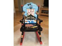 CHILDS WOODEN PIRATE ROCKING CHAIR