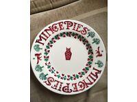 Emma Bridgewater Joy Fox Mince Pie Plate.