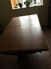 Oak rectory dining table