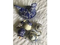 Selection of Blue and white china