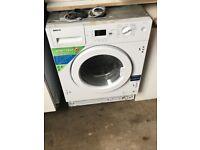 Beko semi intergrated washing machine. £75 7kg mountnessing