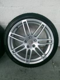 Genuine Audi RS4 19 inch alloy wheels with 255 35 19 tyres