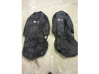 Audi s line embroidered seat covers