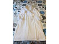Woman cotton towelling dressing gown size 12-14