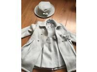 Couche tot girls age 1-2 coat, dress, hat