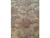 Gold net with gold thread and stone work , sold per meter