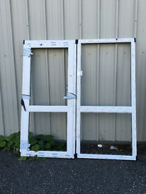 White UPVC Door & Side panel