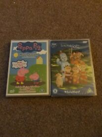 Peppa pig and In the night garden dvd