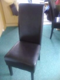single faux leather dining chair