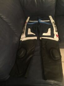 Suzuki motorbike leather trousers