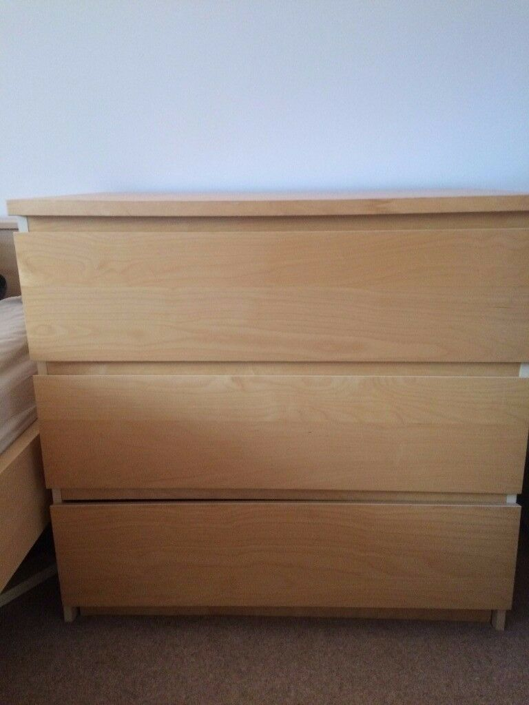 Chest of 3 Drawers IKEA Malm