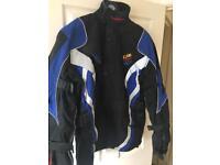 Textile motorbike jacket. Size large.