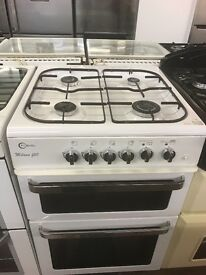 60CM WHITE FLAVEL GAS COOKER DUEL FUEL