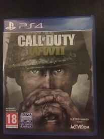 Call of duty WWII PS4 pre owned