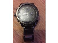 NIXON 48-20 CHRONO Brand New GUNMETAL