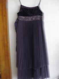 PURPLE MONSOON DRESS Age 11-12 GREAT CONDITION - BARGAIN PRICE