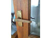 Internal glass panel hardwood doors
