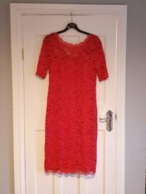 Next maternity red lace dress