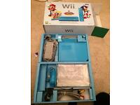 Limited edition Nintendo Wii blue console