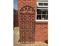Decorative heavy duty black wrought iron gate