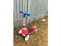 Little tikes scooter and ride on, in great condition can be used in two positions for first scooter