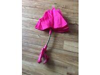 Pink sun umbrella for pushchair