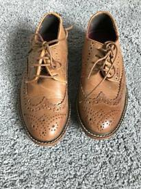 Boys brown smart brogues