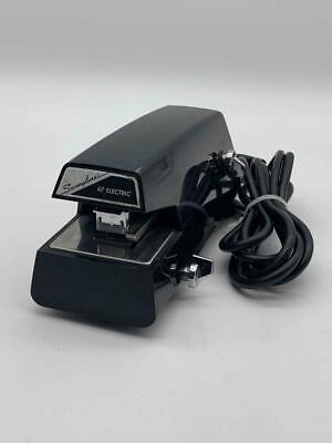 Vintage Swingline 67 Electric Adjustable Stapler Works Tested Jet Black