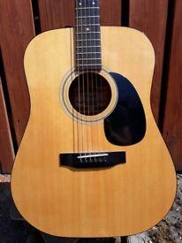 Vintage Fender F-03 Acoustic Guitar Korean 1980