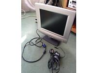 """14"""" computer TFT monitor with power & cables"""