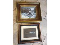 2 Paintings With Heavy Wooden Frames (Can Sell Separately)