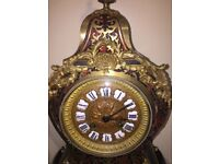 Beautiful french boulle clock on stand by Samuel Marti c.1880