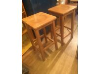 3 x Wooden Stools good quality - £75 for the 3 stools.
