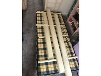Cream Metal Day Bed and Mattress