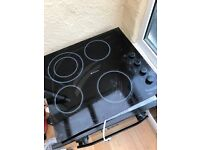 Hot point black electric oven with Hob 2 years old