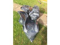 Free soil from garden in soil bags
