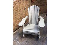 Adarondac style garden rocking chair
