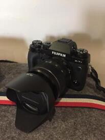 Like new Fuji XT1 body, 18-55 lens and Fuji vertical grip