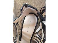 Nine West black Sandals 39/6 brand new