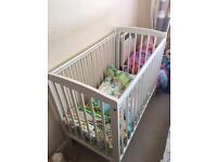 Space saver cot with new mattress