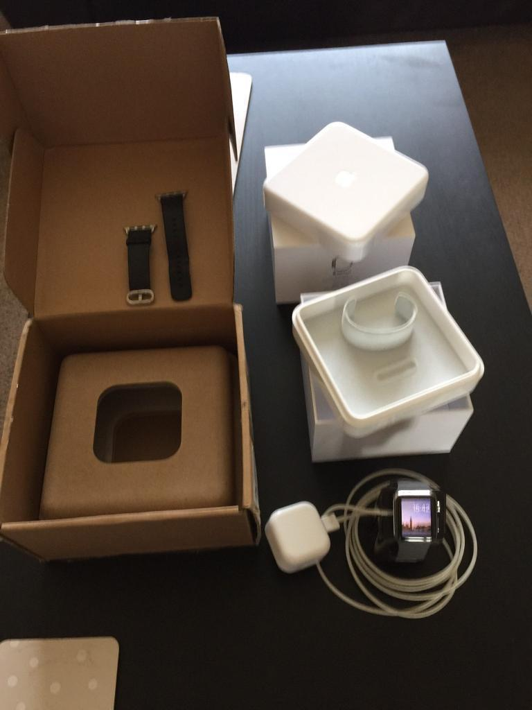Apple Watch 38mm stainless steelin Arnold, NottinghamshireGumtree - Apple Watch 38mm st/st few minor scratches like most!.All boxed few extras , stand extra strap