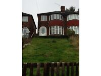 THREE BEDROOM SEMI DETACHED HOUSE IN ERDINGTON WITH NEW FITTED KITCHEN & CARPETS PRICED AT £625PCM