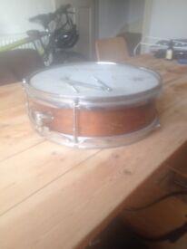Vintage new era wooden snare drum 12.5 x 4.5