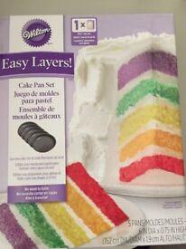 Wilton Cake Pan Set five layers