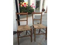 Two Victorian children's chairs