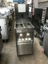 Valentine Twin Tank Twin Basket Electric Chip Fryer 3 Phase